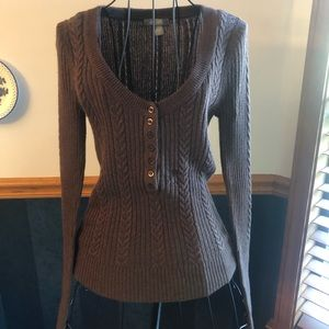 🔵3 FOR $15🔵 Brown scoop neck sweater